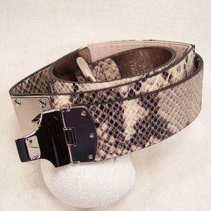 Michael Michael Kors Python Print Leather Belt